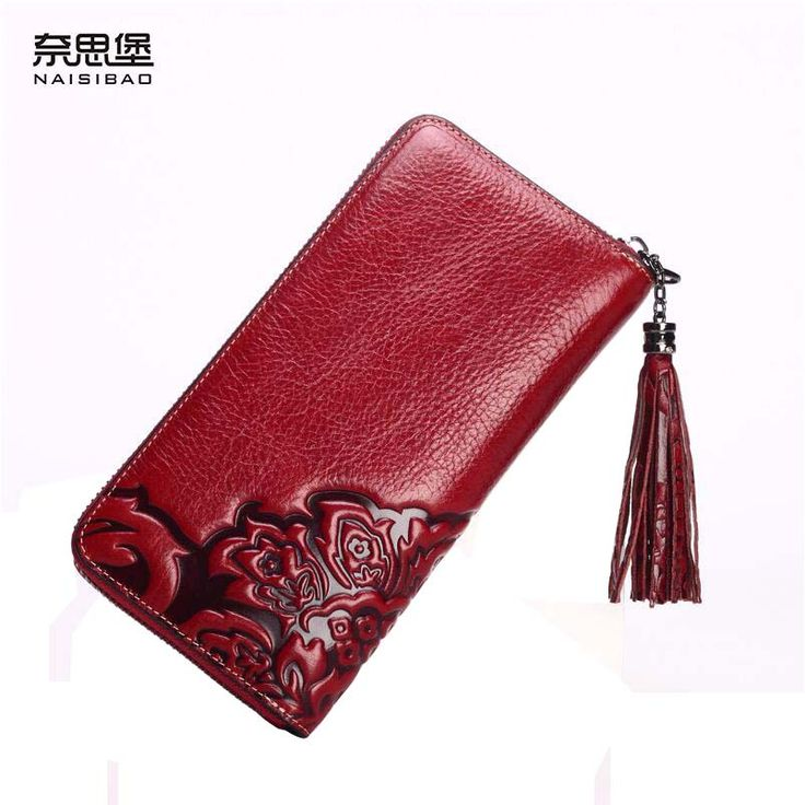 3baa19a6c013 2017 New genuine leather bag women wallets brands high quality fashion  women purse retro embossing zipper long wallets