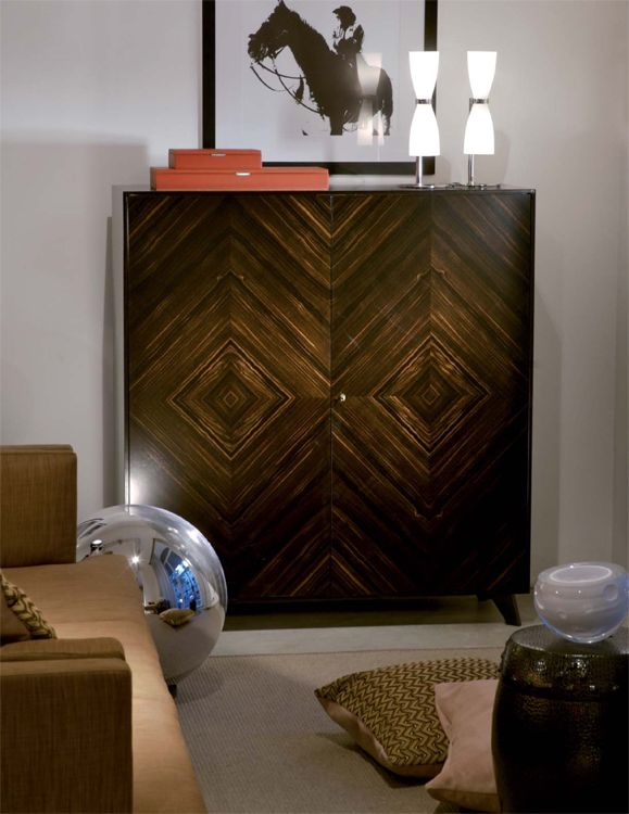 usona furniture. 2 door high cabinet in macassar ebony wood usona furniture