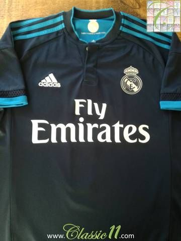 Official Adidas Real Madrid 3rd kit football shirt from the 2015/16 season.