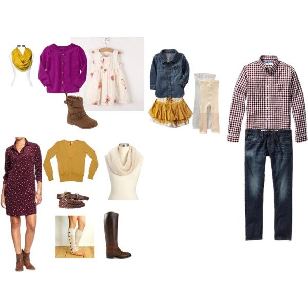 """""""Fall Family Photos 2014""""  Family photo outfits  Fall family photo outfits Purple and mustard"""