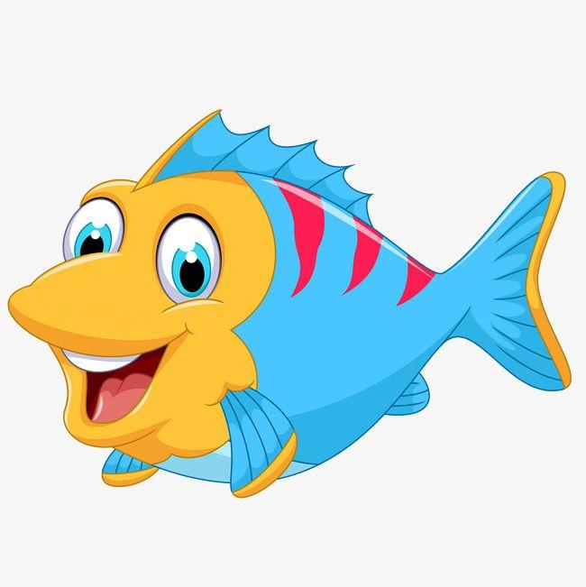 Cute Cartoon Marine Fish Vector Cartoon Clipart Fish Clipart Cartoon Fish Png And Vector With Transparent Background For Free Download Cizim Desenler Balik