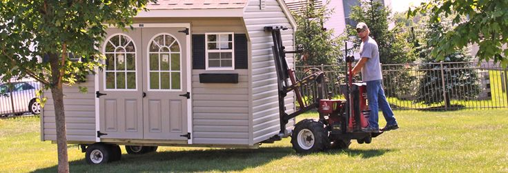 Storage Sheds For Sale in PA - Watch a Mule Delivery