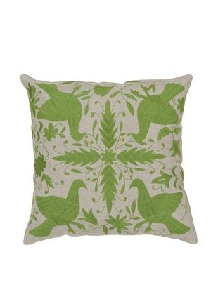 67% OFF Surya Patterned Throw Pillow (Taupe/Apple Green)