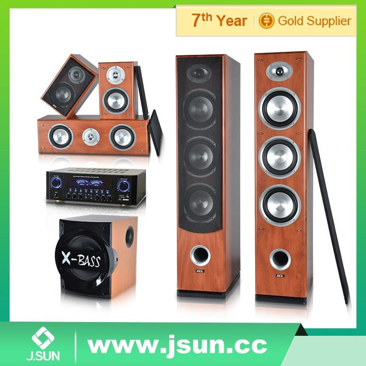 2016 most popular MDF woden case 5.1 amplifier home theater sound system