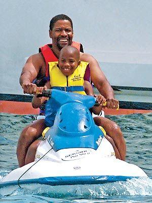 Denzel Washington with family.