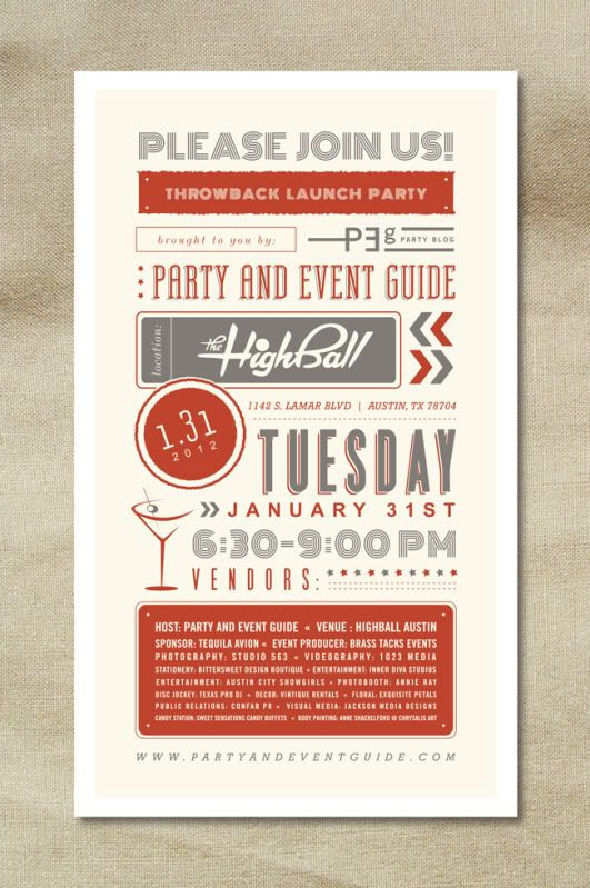 PEG's Throwback Launch Party – photography templates | photoshop designs | psd photo marketing: Graphic Design, Party'S, Launch Party, Parties, Invitation Designs