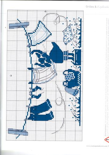 Vêtements Pin Hanger-partie 1 Création Point de Croix Magazine