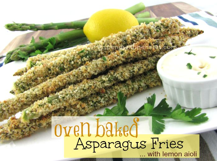 Oven Baked Asparagus Fries with Lemon Aioli | Recipe ...