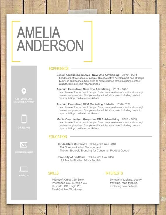 Pin by Fleta Mountain Resume Tips on Resume Design Resume Design