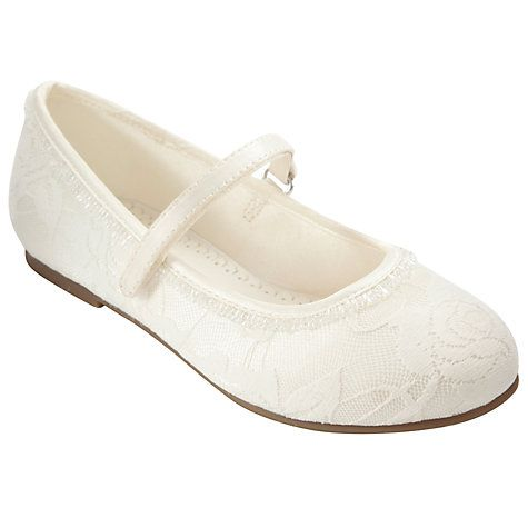 Buy John Lewis Girl Lace Overlay Bridesmaid Shoes, Ivory Online at johnlewis.com for Erin