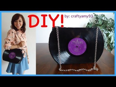 DIY Record Purse Tutorial - What a neat idea! :)