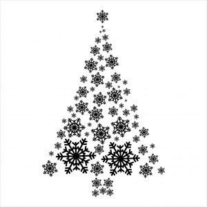 Stempel - Śnieżynki : choinka CraftyMoly