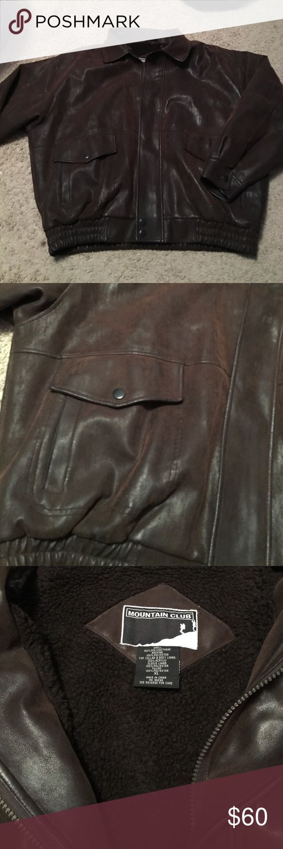 Mountain Club Jacket size XL Mountain club jacket size XL. Has fleece on the inside. Brown color. Worn once. Mountain Club Jackets & Coats Bomber & Varsity