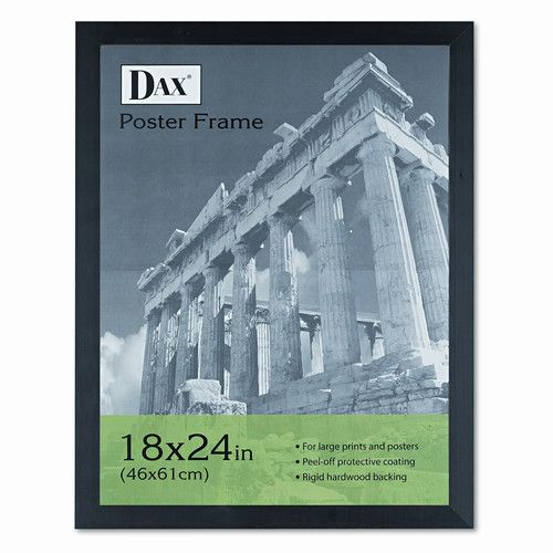 Found it at Wayfair - Black Plastic Poster Frame with Plexiglas Window, Wide Profile, 18 x 24