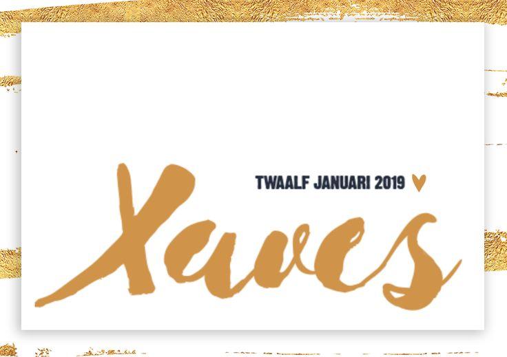Goud is de trend van 2017, wat heel goed terugkomt in de typografie van dit kaartje. <3 #goud #trend #typografie #geboortekaartje #jongen