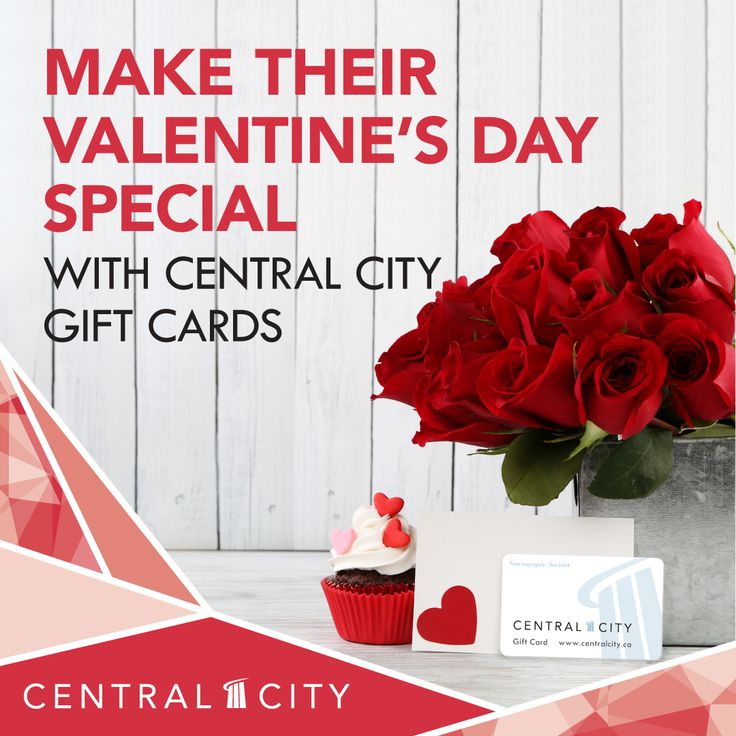 Need a Valentine's Day gift for a loved one? Consider a Central City Gift Card. Valid at most of the centre's 140 stores, restaurants, and services, it's a present that will be adored.  Pick up your Gift Card at Central City's Customer Service today!
