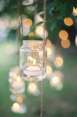 mason jar lights floating