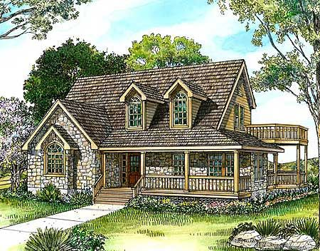 Plan 46036hc Country Stone Cottage Home Plan The Winter