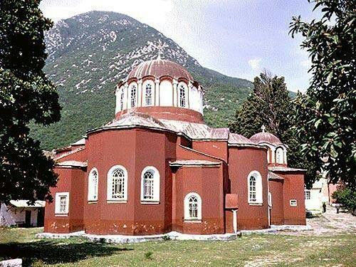 Monte Athos. Katholikon di Megistis Lavra.