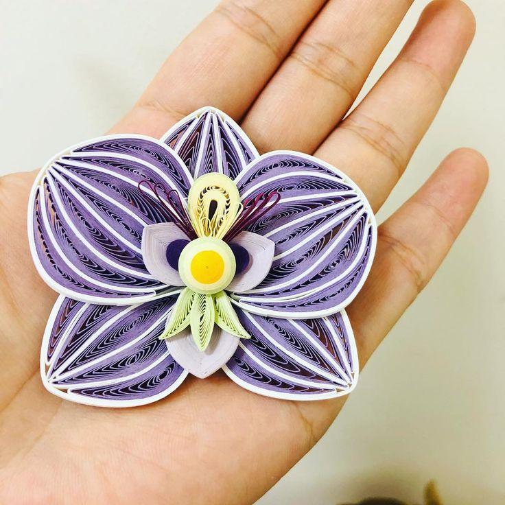 орхидея квиллинг фото тут только