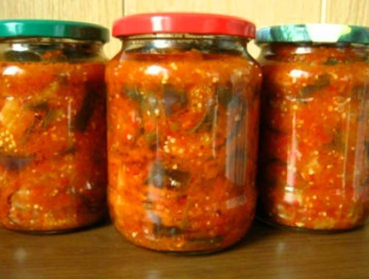 Рецепт манжо на зиму. Болгарский салат из овощей, приготовление: перец, баклажаны, томаты, лук, морковь, чеснок, перец чили.