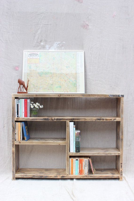 Reclaimed Wood Bookcase | OldManAndMagpie
