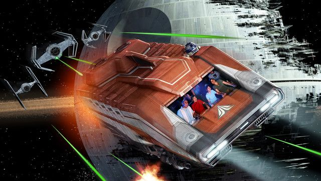 Buckle up for a thrill ride through the world of Star Wars at Star Tours - The Adventures Continue.