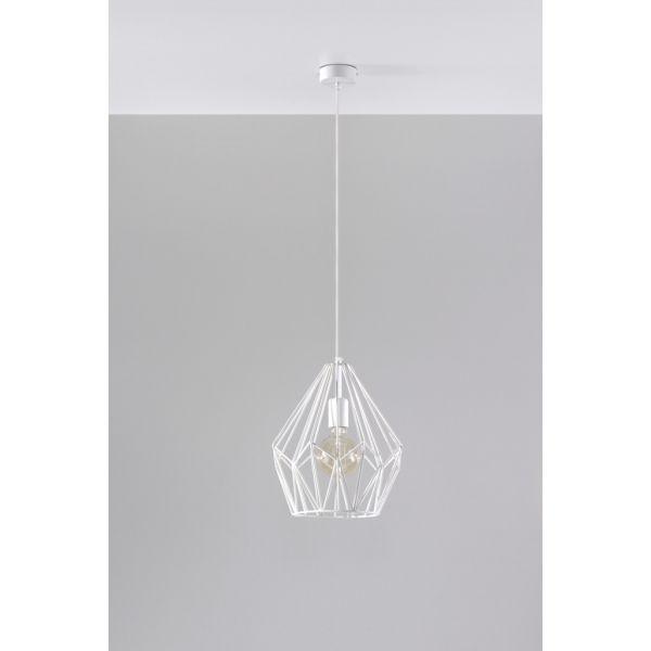 Zgrabny Minimalizm - Lampa wisząca Zwis ANTIGO Biała E27