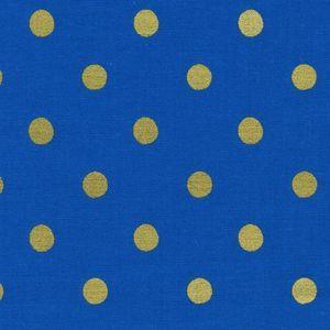 Rifle Paper Co - Wonderland - Caterpillar Dots in Cobalt Metallic