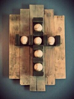 Baseball Cross made from recycled pallets http://www.etsy.com/shop/ammiewestdesigns