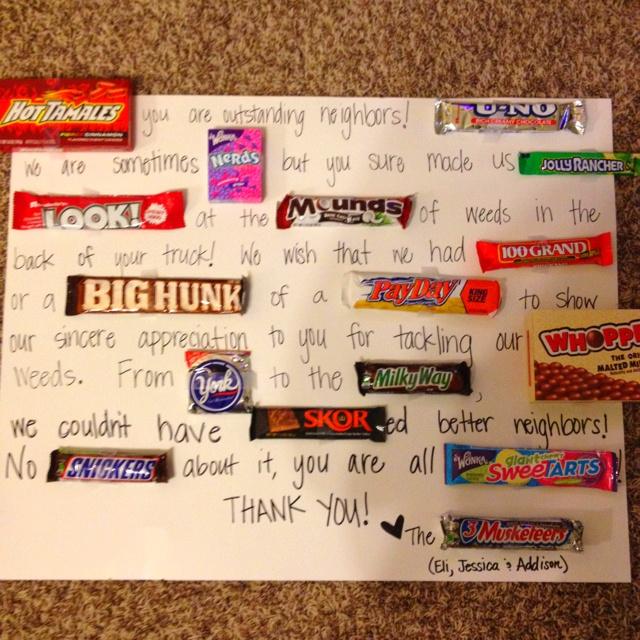 Candy bar thank you card!   Twin Ideas   Pinterest   Thank ...