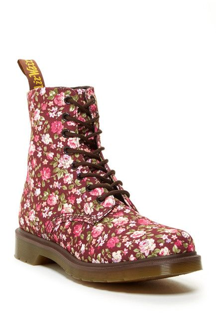 Dr. Martens Page Floral Combat Boot