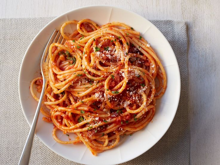 Amatriciana Sauce : Amatriciana is a spicy red sauce that's name is derived from the Italian town of Amatrice. It features guanciale or pancetta in combination with an easy red sauce.
