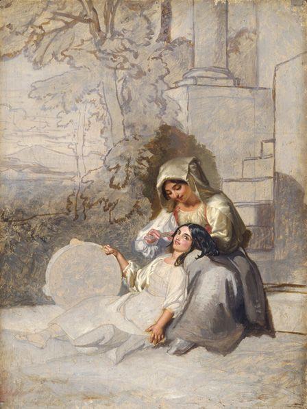 Italian Peasants WILLIAMS, Penry (1802 - 1885)