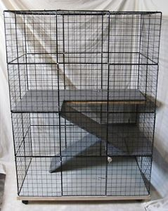 Rabbit cage Indoor BIG BUNNY & CAT Condo deluxe hutch pet pen w/ carpeted floors-DIY Rabbit cage idea.