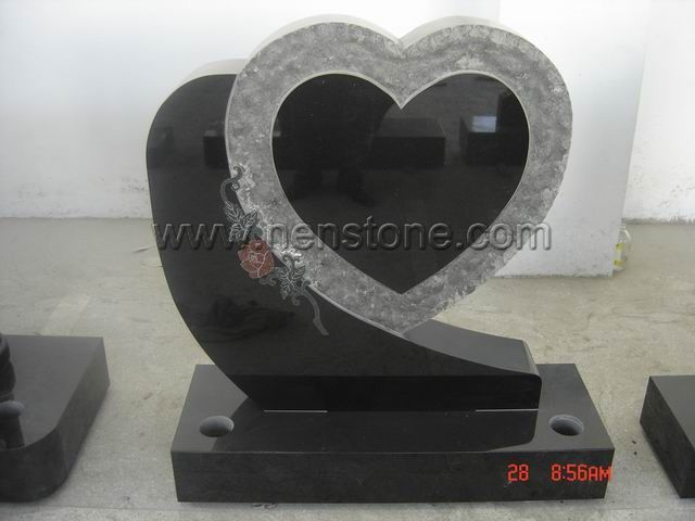 Heart Shaped Headstones For Graves   Heart Shaped Granite Memorial