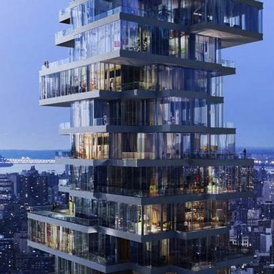 Stacked condos in Tribeca (NYC)Floors Plans, 56 Leonard, New York Cities, Birds Nests, De Meuron, Buildings,  Containership, Leonard Street, Architecture