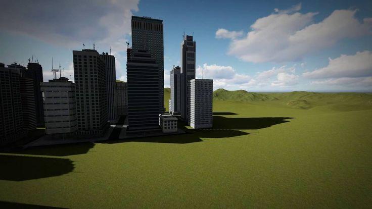 3D animáció: épületek bemutatása