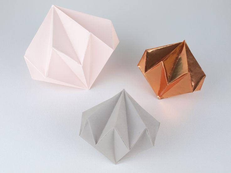 DIY Papierdiamanten