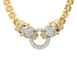 3.04cts Diamond Leopard Necklace