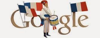 Dia da Bastilha - Google doodle