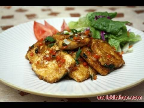 Main Ingredients:        * 1 Pack Firm Tofu      * ⅓ Cup Corn Starch or Flour      * ¼ Cup Onion (¼ Onion)      * ¼ Cup Carrot      * ¼ Cup Green Onion (2 Green onions)      * Some Oil for Frying      * Salt and Black Pepper     Sauce Ingredients:        * 2 Tbsp Soy Sauce      * 3 Tbsp Water      * 2½ tsp Sugar      * 1 Tbsp Minced Garlic      ...