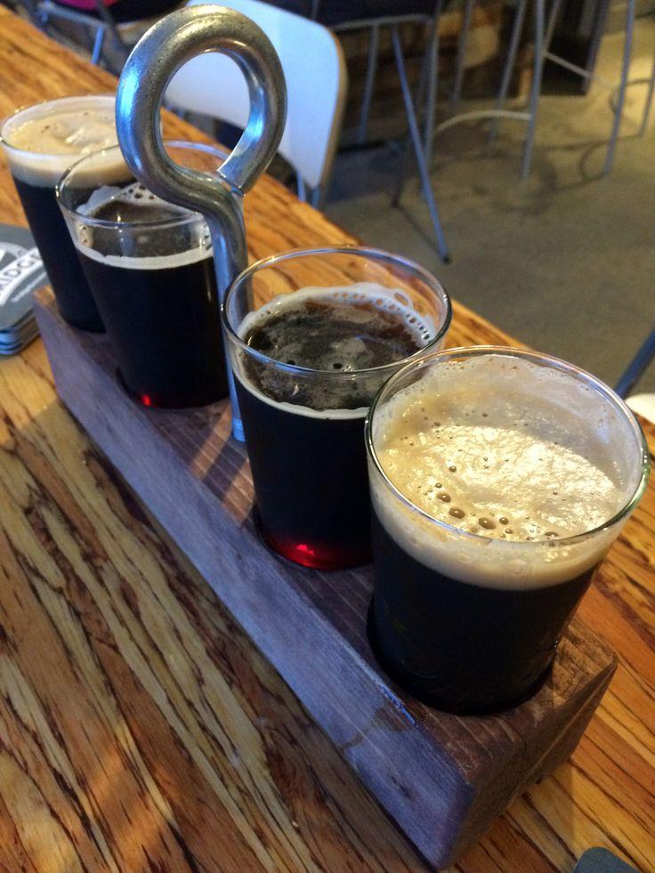 Craft beer flight from Bridge Brewing Company