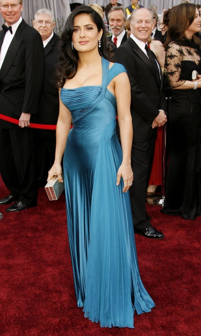 Salma Hayek Oscars dress- beautiful color!!!