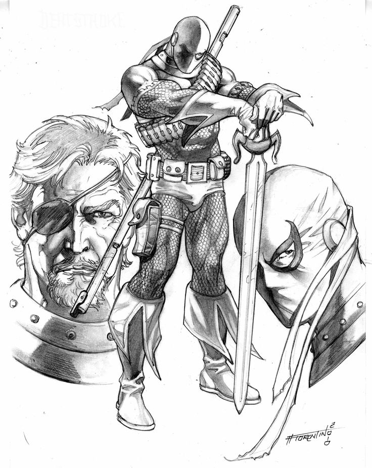 coloring pages of deathstroke costume - photo#24