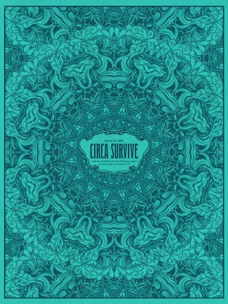 circa survive poster - love the color, of course :)