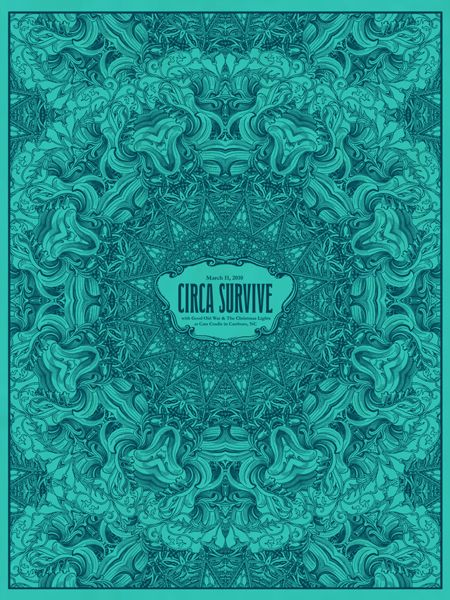 circa survive poster - love the color, of course :)