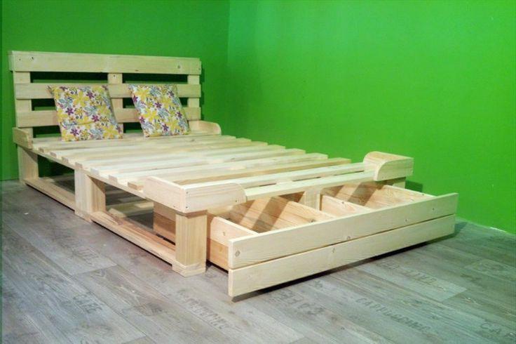 Una cama de palets con cajón de almacenaje para toda la vida