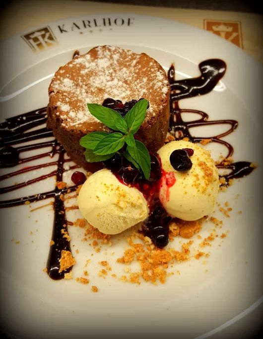 Pure delight on a plate, this dessert is waiting to be indulged in.