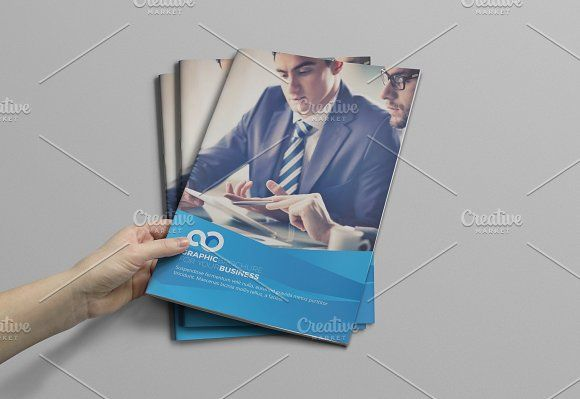 Business Brochure Template by Cristal Pioneer on @creativemarket